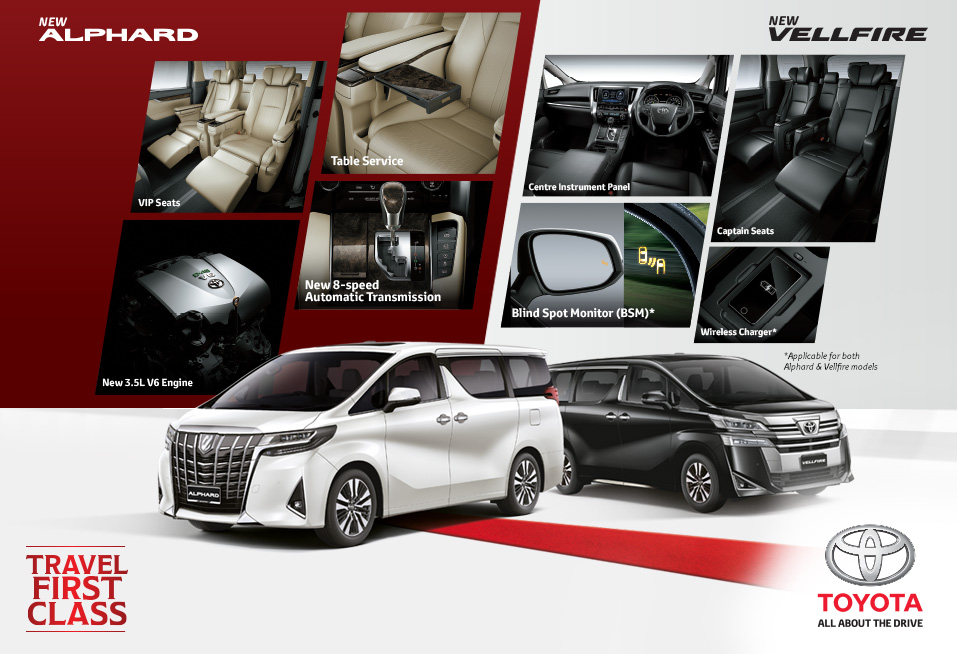 New Toyota Alphard and Vellfire